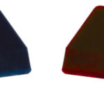 Two heel wedges, firm(blue) and medium(red), are included.